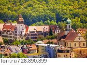 Beautiful cityscape of medieval Freiburg in summer (2017 год). Стоковое фото, фотограф Сергей Новиков / Фотобанк Лори