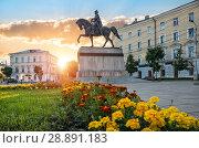 Купить «Памятник Михаилу Тверскому Monument to Mikhail Tverskoy», фото № 28891183, снято 29 июля 2018 г. (c) Baturina Yuliya / Фотобанк Лори