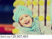 Купить «child having ride on the merry-go-round», фото № 28907483, снято 23 февраля 2019 г. (c) Яков Филимонов / Фотобанк Лори