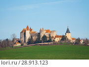 Купить «Chateau de Chateauneuf castle in south France», фото № 28913123, снято 17 декабря 2016 г. (c) Сергей Новиков / Фотобанк Лори