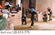 Купить «Players are meeting on the battlefield», фото № 28913775, снято 10 июля 2017 г. (c) Яков Филимонов / Фотобанк Лори