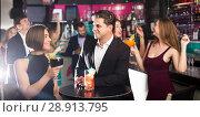 Купить «Females and males celebrating corporate», фото № 28913795, снято 20 апреля 2017 г. (c) Яков Филимонов / Фотобанк Лори
