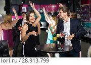 Купить «Friends of students dancing on party», фото № 28913799, снято 20 апреля 2017 г. (c) Яков Филимонов / Фотобанк Лори