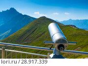 Купить «close-up of a telescope on Mount Kasprowy Wierch Poland», фото № 28917339, снято 19 августа 2017 г. (c) Константин Лабунский / Фотобанк Лори