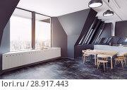 Купить «modern loft kitchen interior», фото № 28917443, снято 15 августа 2018 г. (c) Виктор Застольский / Фотобанк Лори