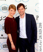 Katie Aselton, Mark Duplass at arrivals for 30th Film Independent Spirit Awards 2015 _ Arrivals 1, Santa Monica Beach, Santa Monica, CA February 21, 2015. Photo By: James Atoa/Everett Collection. Редакционное фото, фотограф James Atoa/Everett Collection / age Fotostock / Фотобанк Лори