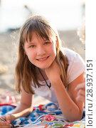 Купить «a girl thirteen years old», фото № 28937151, снято 7 июля 2018 г. (c) Типляшина Евгения / Фотобанк Лори