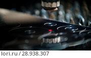 Купить «The device draws perfect flat circles on the surface», видеоролик № 28938307, снято 17 августа 2018 г. (c) Константин Шишкин / Фотобанк Лори