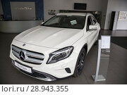 Купить «Issued Mercedes GLA in the Mercedes salon», фото № 28943355, снято 22 августа 2016 г. (c) Caro Photoagency / Фотобанк Лори