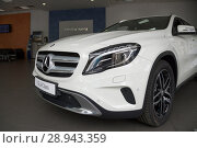 Купить «Issued Mercedes GLA in the Mercedes salon», фото № 28943359, снято 22 августа 2016 г. (c) Caro Photoagency / Фотобанк Лори