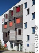 Купить «Berlin, Germany, facade of the student village Adlershof», фото № 28944051, снято 27 сентября 2016 г. (c) Caro Photoagency / Фотобанк Лори