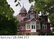 Binz, Germany, Villa Undine in the typical Baederarchitektur (2007 год). Редакционное фото, агентство Caro Photoagency / Фотобанк Лори