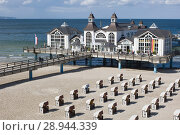 Sellin, Germany, view of the sea bridge Sellin (2007 год). Редакционное фото, агентство Caro Photoagency / Фотобанк Лори