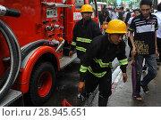 Купить «Yangon, Myanmar, the fire department in a deployment in the center», фото № 28945651, снято 30 июля 2013 г. (c) Caro Photoagency / Фотобанк Лори