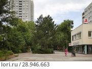 Купить «Berlin, Germany, prefabricated housing estate in Rudolf-Seifert-Strasse in Berlin-Fennpfuhl», фото № 28946663, снято 19 июня 2016 г. (c) Caro Photoagency / Фотобанк Лори