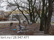 Купить «Berlin, Germany, free spaces between Kulturforum and Potsdamer Strasse in Berlin-Tiergarten», фото № 28947471, снято 28 декабря 2016 г. (c) Caro Photoagency / Фотобанк Лори