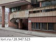 Купить «Berlin, Germany, spiral staircase on a Bueogebaeude in the small Kurstrasse in Berlin-Mitte», фото № 28947523, снято 12 февраля 2017 г. (c) Caro Photoagency / Фотобанк Лори