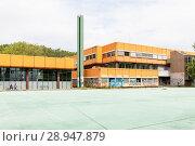 Купить «Berlin, Germany, ruin of the Diesterweg Gymnasium in the Swinemuender Strasse in Berlin-Gesundbrunnen», фото № 28947879, снято 9 июля 2017 г. (c) Caro Photoagency / Фотобанк Лори