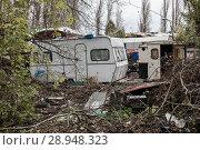 Купить «Berlin, Germany, junkyard on a property on the Rummelsburger bay», фото № 28948323, снято 28 октября 2017 г. (c) Caro Photoagency / Фотобанк Лори