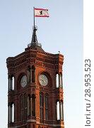 Купить «Berlin, Germany, the Red Town Hall», фото № 28953523, снято 3 марта 2018 г. (c) Caro Photoagency / Фотобанк Лори
