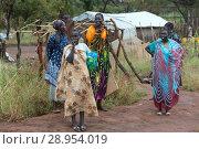 Купить «Adjumani, Uganda - Ugandan government's settlement program for refugees from South Sudan.», фото № 28954019, снято 23 ноября 2016 г. (c) Caro Photoagency / Фотобанк Лори