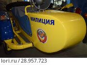 Милицейский мотоцикл. Стоковое фото, фотограф Виктор Юрасов / Фотобанк Лори