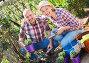 Купить «Senior couple looking after flowers in the garden», фото № 28958131, снято 16 августа 2018 г. (c) Яков Филимонов / Фотобанк Лори