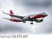 Купить «Red Wings Tupolev Tu-204-100V», фото № 28973447, снято 18 августа 2018 г. (c) Art Konovalov / Фотобанк Лори