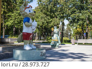 Купить «On the territory of Moscow Luzhniki Olympic Complex -- Stadium for the 2018 FIFA World Cup in Russia», фото № 28973727, снято 10 августа 2018 г. (c) Владимир Журавлев / Фотобанк Лори
