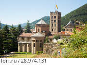 Купить «Monastery of Santa Maria in Ripoll, Catalonia», фото № 28974131, снято 16 июля 2017 г. (c) Яков Филимонов / Фотобанк Лори
