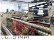 Купить «Automatic washing and cleaning of carpets. Industrial line for washing carpets», фото № 28974979, снято 19 июня 2017 г. (c) Евгений Ткачёв / Фотобанк Лори
