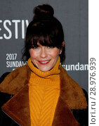 Katie Aselton at arrivals for FUN MOM DINNER Premiere at Sundance Film Festival 2017, Eccles Theatre, Park City, UT January 27, 2017. Photo By: James Atoa/Everett Collection. Редакционное фото, фотограф James Atoa/Everett Collection / age Fotostock / Фотобанк Лори