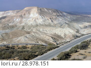 Beautiful views of Ein Avdat, Zin Valley and road. Negev, desert and semidesert region of southern Israel (2018 год). Стоковое фото, фотограф Валерия Попова / Фотобанк Лори