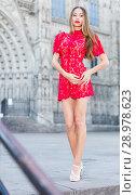 Купить «close-up portrait of young slim adult girl in sexy evening apparel», фото № 28978623, снято 24 июня 2017 г. (c) Яков Филимонов / Фотобанк Лори
