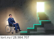 Купить «The accessibility concepth with wheelchair for disabled», фото № 28984707, снято 24 февраля 2019 г. (c) Elnur / Фотобанк Лори