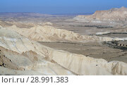 Amazing views of Ein Avdat and Zin Valley in summer sunny day. Negev, desert and semidesert region of southern Israel (2018 год). Стоковое фото, фотограф Валерия Попова / Фотобанк Лори