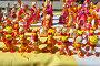 Купить «Филимоновская игрушка на прилавке», фото № 28993411, снято 25 августа 2018 г. (c) Лариса Вишневская / Фотобанк Лори