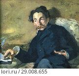 Stéphane Mallarmé, born Étienne Mallarmé, 1842-1898. French symbolist poet and critic. After a contemporary print. Редакционное фото, фотограф Classic Vision / age Fotostock / Фотобанк Лори