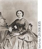 Clara Barton. Full name, Clarissa Harlowe Barton, 1821-1912. American born nurse who founded the American Red Cross. (2015 год). Редакционное фото, фотограф Classic Vision / age Fotostock / Фотобанк Лори