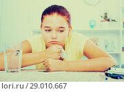 Купить «girl waiting phone call», фото № 29010667, снято 25 марта 2019 г. (c) Яков Филимонов / Фотобанк Лори