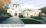 Купить «Monastery Horezu in romanian city», фото № 29010887, снято 22 сентября 2017 г. (c) Яков Филимонов / Фотобанк Лори