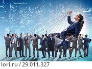 Купить «Boss employee manipulating his staff in business concept», фото № 29011327, снято 20 мая 2019 г. (c) Elnur / Фотобанк Лори
