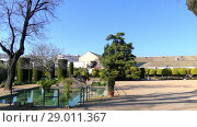 Купить «Castle of Christian Monarchs in Cordoba, Spain», видеоролик № 29011367, снято 25 февраля 2017 г. (c) BestPhotoStudio / Фотобанк Лори