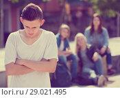 Купить «Teenage boy outcast», фото № 29021495, снято 24 января 2019 г. (c) Яков Филимонов / Фотобанк Лори