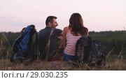 Купить «Hiking with backpacks», видеоролик № 29030235, снято 31 августа 2018 г. (c) Илья Шаматура / Фотобанк Лори