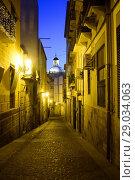 Купить «Street of the old town of Alicante, Valencia, Spain», фото № 29034063, снято 23 декабря 2016 г. (c) age Fotostock / Фотобанк Лори