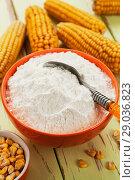 Купить «Starch and corn cob», фото № 29036823, снято 17 марта 2018 г. (c) Надежда Мишкова / Фотобанк Лори
