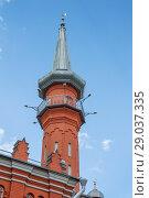 Купить «Минарет Соборной  мечети в Нижнем Новгороде», фото № 29037335, снято 21 августа 2018 г. (c) Александр Романов / Фотобанк Лори