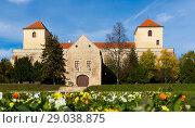 Купить «Fortified castle of Palota in Varpalota», фото № 29038875, снято 2 ноября 2017 г. (c) Яков Филимонов / Фотобанк Лори
