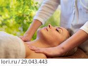 Купить «woman having massage in spa», фото № 29043443, снято 18 декабря 2014 г. (c) Syda Productions / Фотобанк Лори